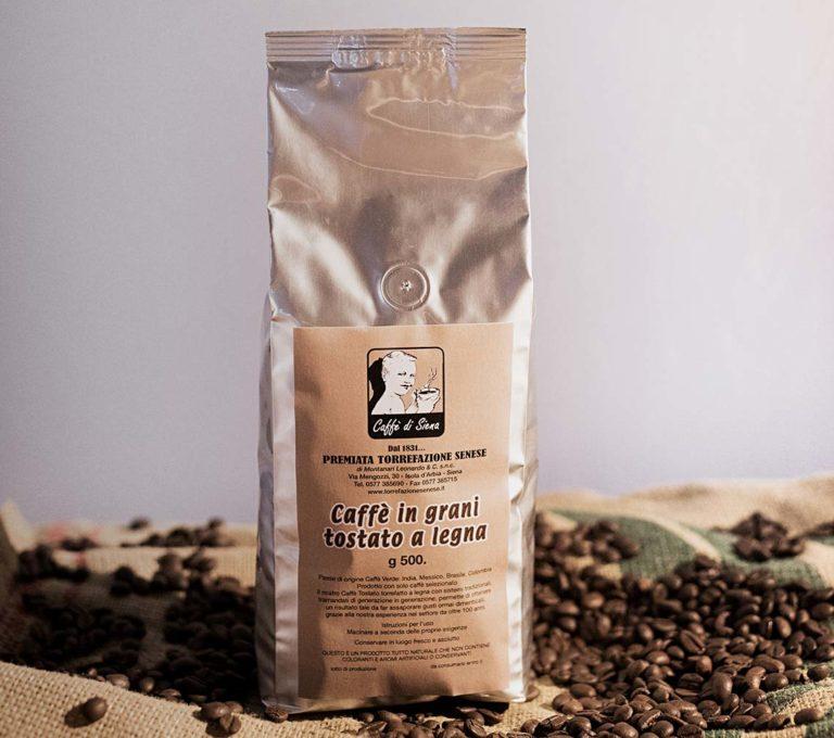 Caffè in grani tostato a legna